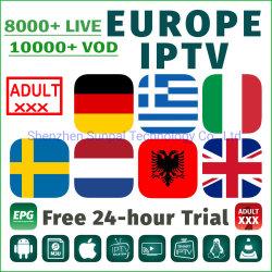 Hi-Ott Ultra HD 4K Canaux IPTV Néerlandais Français Allemand Espana Portugal Belgique USA Canada TV Pologne suédois de l'Europe de l'abonnement M3U