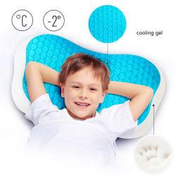 Konfurt dormir bien en forma de Hueso personalizado a los niños de refrigeración de soporte de la boca del bebé Gel almohada de espuma de memoria con Gel Pad
