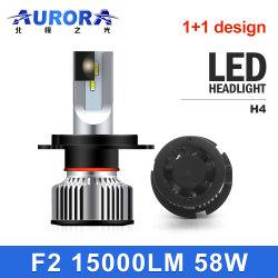 Aurora Emark Usine H4 H13 9004 9007 auto voiture 1+1 LED Lampes de projecteur