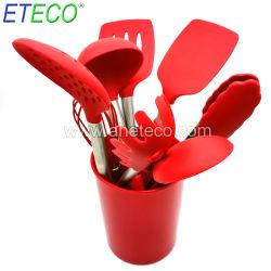 BPA 불포함 콤포넌스틱 재사용 가능 가정용 Cook 도구 실리콘 조리 도구 주방 도구 세트 주방 도구