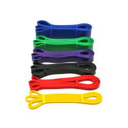 Exercício de látex colorido personalizado da banda de Loop para exercícios de fitness