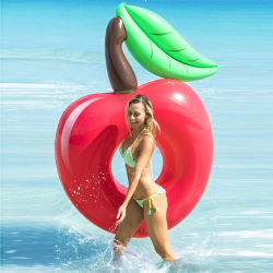 PVC夏のWterの演劇のおもちゃの大人のための膨脹可能で環境に優しく赤いAppleの水泳のリング