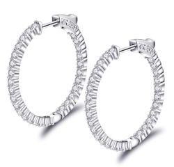 Высшее качество 925 серебристые Earring выдвижных дуг