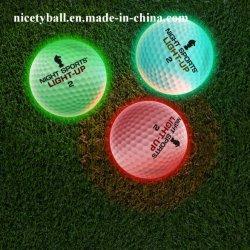Promotion des sports d'éclairage de nuit activé 7 LED de couleur des balles de golf Light up LED flottante Balle de Golf