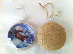 Glas Deocration van Kerstmis van de Bal van de sneeuwman het Met de hand gemaakte Vlakke