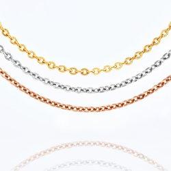 Moda Mujer Collar de acero inoxidable acabado chapado en oro de la cadena de cable plano Dama Pulsera Joyería Anklet