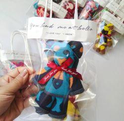 창조적인 동물성 주문 수건 선물은 100%년 면 결혼 선물 곰 모양 수건 선물을 놓았다
