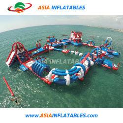 Juegos de deportes de agua inflable parque acuático Aqua Park con pistas de obstáculos