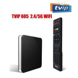 최고 안정되어 있는 고유 Tvip605 지능적인 텔레비젼 상자 1GB 8g S905X 지원 IPTV 상자 Tvip 605 리눅스 OS 텔레비젼 상자 고정되는 최고 상자 2.4G/5g WiFi 4K 매체 텔레비젼 상자 IPTV STB