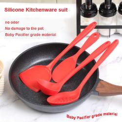 Non-Stick utensilios de cocina utiliza una espátula de silicona de fácil limpieza y cuchara herramientas menaje de cocina