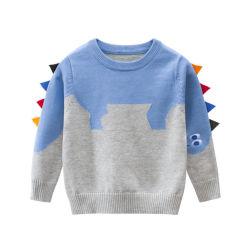 Детские свитера Топс динозавров детский одежда мода детский трикотажных изделий