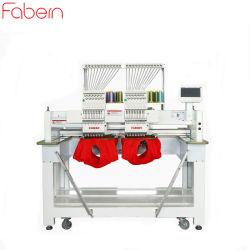 máquina de bordar informatizada de la fábrica de China 2 cabezas bordado computarizado de la máquina de bordado de prendas de vestir de la máquina con dispositivo Sequin