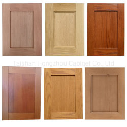 Cherry / Cocina de madera maciza de roble natural de las puertas de armario acabado de superficie de madera armarios de cocina de la fábrica de Vietnam
