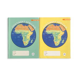 48 de la Escuela de cuadrícula de hojas de cuaderno de ejercicios y los precios en el sur de África con la impresión de logotipo
