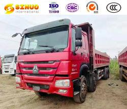 Utilizado Caminhões de Despejo 12 Rodas Sinotruk HOWO Segunda mão caminhão de caixa basculante 50 Toneladas Pesados 8*4 7,6M carga 8.2m Euro 5 melhores condições e preço competitivo Venda Quente