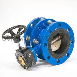 DN50-2400-Wurm-Getriebe-Doppel-Exzenterflansch-manuell-duktil-Eisen-Absperrventil