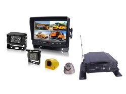 H. 264 Real time 4 GPS Mdvr van de Veiligheid van het Voertuig van het Kanaal met de Dubbele Kaart van BR