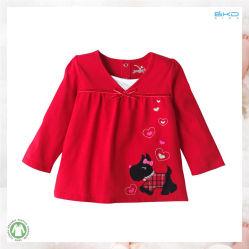 أحمر طفلة لباس داخليّ يلبّي طفلة بنت [ت-شيرت]