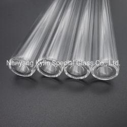 Pulido de doble capa de tubo de cristal de cuarzo.