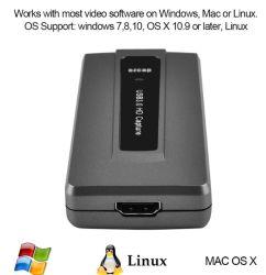 HDMI Spiel-Sicherungs-Kasten-Einheit der USB-3.0 zur video Sicherungs-1080P 60fps HD Video-Audio gespeicherten, Videogerät der HDMI Spiel-Sicherungs-Kasten-Karten-HD für Mac/Linux /Windows