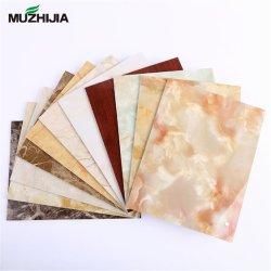PVC Folha em mármore 3D Folha Lenticular decoração de paredes 3D Board