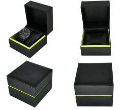 Top de linha de alimentação e personalizados de PU Leather Flip única caixa de relógio, requintados Assista a caixa de oferta
