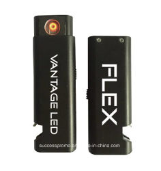 Flameless Briquet rechargeable Batterie USB avec décapsuleur