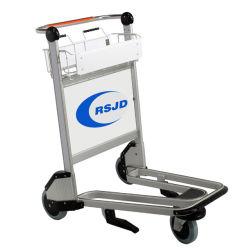Bagagem de passageiros do aeroporto de alumínio Sala carrinho com a cesta