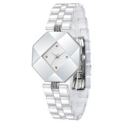 Prezzo di fornitore Junoesque di lusso dell'orologio delle donne del quarzo della vigilanza di ceramica creativa