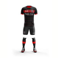Voetbal Jersey van het Overhemd van de Voetbal van het Team van het Voetbal van de Sublimatie van de Sportkleding van de douane het Eenvormige