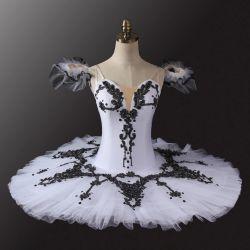 Женщин-специалистов девочек производительность износа белого цвета черный балет Туту костюмы