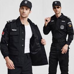 Uniformen van de Veiligheidsagent van het Gevecht van de Beschermende Mensen van de Polyester van 100% de Zwarte
