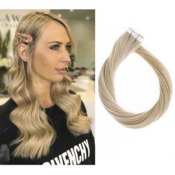 熱い販売多彩な#16倍によって引かれる自然なRemyの人間の毛髪の拡張テープ毛