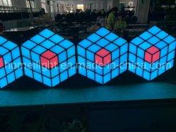 Stade de toile de fond Disco DJ KTV LED 3D Magic Cube mur