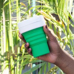 FDA LFGB протечек съемная многоразовые чашки кофе силикона складная чашки Bc104