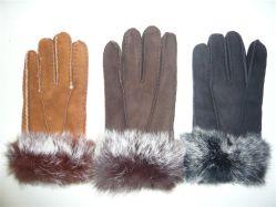 De hete Warme Handschoenen van de Winter van het Bont van de Lamsvacht van de Verkoop