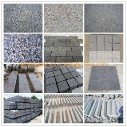 Pulido/Flameados Blanco/Negro/rojo/gris/amarillo/verde/marrón/rosa/piedra de granito para pavimentación/Mosaico/Paso/Curb/cubo/Palisade/Losa/pisos