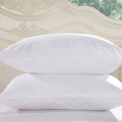 100% algodón cubierta con un 90% plumón de pato Hotel de lujo almohadas