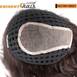El cabello virgen de la parte superior de la seda de reemplazo de cabello mujer productos de pelo