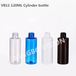 Form-kosmetische Plastikflasche des Zylinder-120ml mit Platten-Oberseite-Schutzkappe