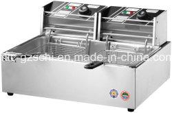 Friteuse en acier inoxydable Friteuse de poulet de l'équipement de cuisson de la puce de la machine
