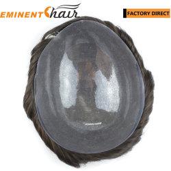 Instant Delivery Indian Hair Skin Stock Zelfklevende Haarsysteem