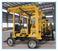 De aanhangwagen zette de Geotechnische Machine van de Techniek, de Installatie van de Boring van de Put van het Water (op 300m600m)