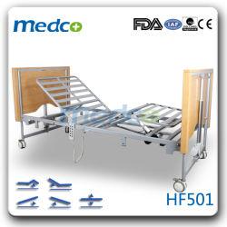 電気5つの機能によって折られるホームケアの看護のベッド
