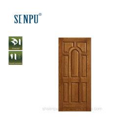 Porta in legno di noce massello di ingresso per uso interno di edifici commerciali