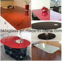 Piano di cortesia in vetro temprato / piano in vetro verniciato /approvazione En12150