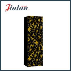 Couleur noire avec bouteille d'estampage à chaud Shopping sac de papier cadeau