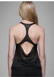 Maglia di usura di sport del cotone dei vestiti di modo delle donne