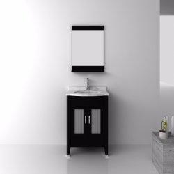 Salle de bains en bois massif armoire avec miroir du bassin de la céramique et des meubles