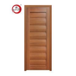 Venda a quente Assemblly Solid Board Porta Interior de PVC de madeira